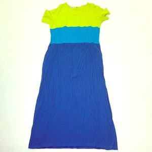 Women's Size Small DVF Colorblock Long Dress